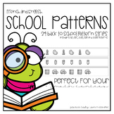 Back to School Patterns for English and French Classrooms
