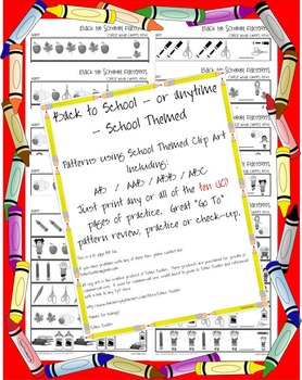 FestiveFriday Back to School * Patterns * No Prep Printable