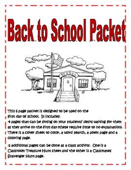 Back to School Pckt