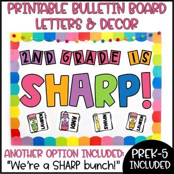Pencil Bulletin Board or Door Decoration - Sharp Bunch!