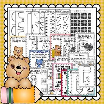 Back to School Pencil Craft, Class Book & Writing Activities