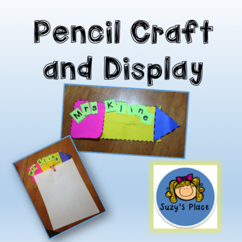 Back to School Pencil Craft and Bulletin Board Display