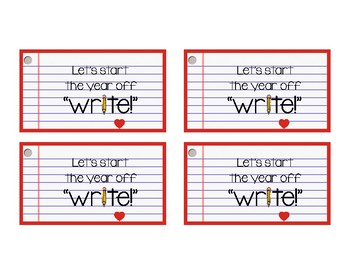 Back to School Pencil Gift Tags