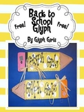 Back to School  Pencil Glyph
