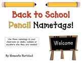 Back to School Pencil Name Tags