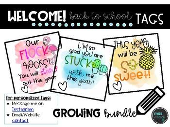 Back to School Pencil Tags *Watercolor*
