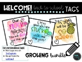 Back to School Pencil Tags *Watercolor*