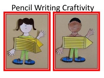 Back to School Pencil Writing Craftivity