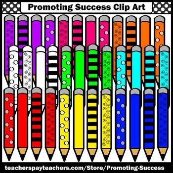 Back to School Supplies Clip Art, Pencil Clipart, Commercial Use SPS