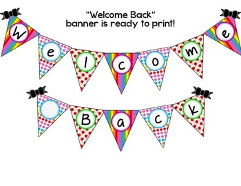 Back to School Pennant Banners - School Theme