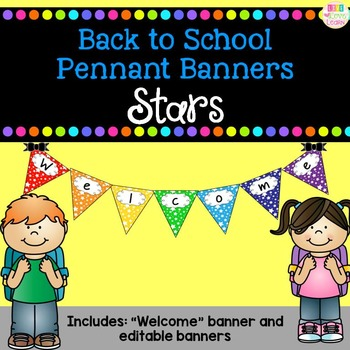 Back to School Pennant Banners - Stars