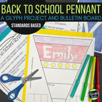 Back to School Pennant Glyph Project for Grades 3-5