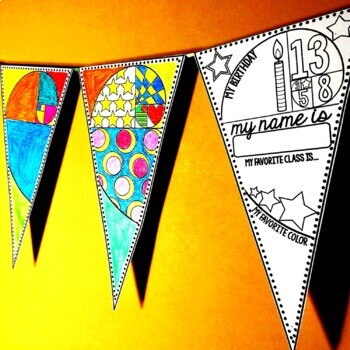 Back to School Math Pennant and Glyph