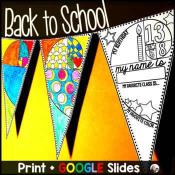 Back to School Pennant: Golden Spiral