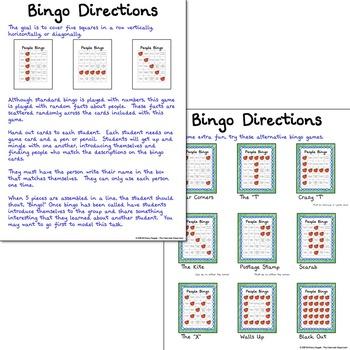Back to School - People Bingo Sampler