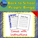 Back to School - People Bingo Sampler