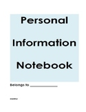 Morning Meeting- Personal Information Notebook