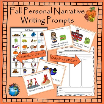 Back to School Personal Narritive Writing Task Cards and Graphic Organizers