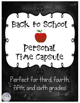 FREE Back to School Personal Time Capsule