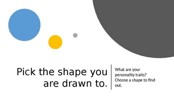 Back to School Personality Sort: Choose a Shape!