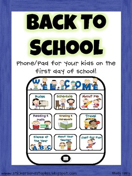 Back to School Phone Book