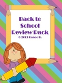 Back to School Phonics, Grammar, Math Review