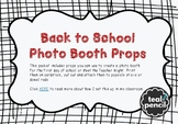 Back to School Photo Booth Props