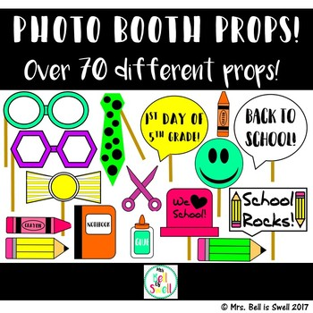 Back To School Photo Booth Props By Mrs Bell Is Swell Tpt