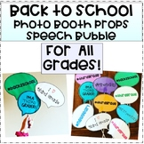 Back to School Photo Booth Props Speech Bubbles (All Grades)