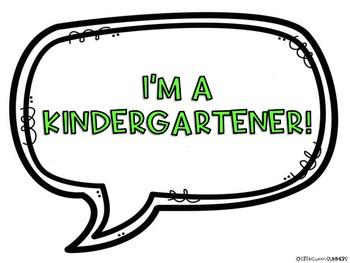 Back to School Photo Booth Props: Kindergarten
