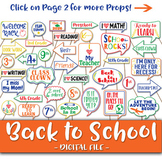 Back to School Photo Booth Props and Decorations - First Day of School Props