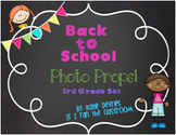 Back to School Photo Props 3rd Grade