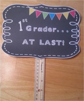 Back to School Photo Props Kindergarten