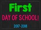 Back to School Photo Signs (Chalkboard Background)