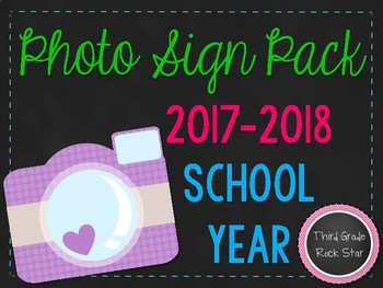 Back to School Photo Signs (Chalkboard Background) ~ 2016-