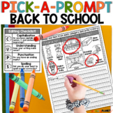 Picture Writing Prompts Back To School