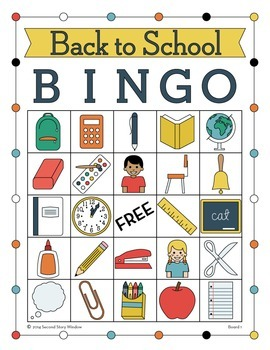 Back to School Picture Bingo • First Day of School