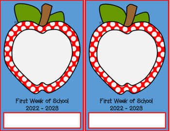 First Day of School Picture Frames 2017 - 2018