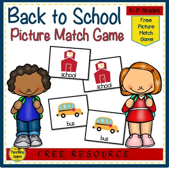 Back to School Picture Match Game {FREE}