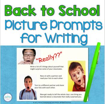 Back to School Picture Prompts for Writing