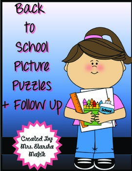Back to School Picture Puzzles