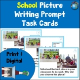 Back to School Picture Writing Prompt Task Cards