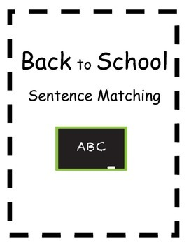 Back to School Picture to Sentence Matching