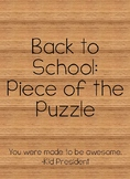 Back to School: Piece of the Puzzle