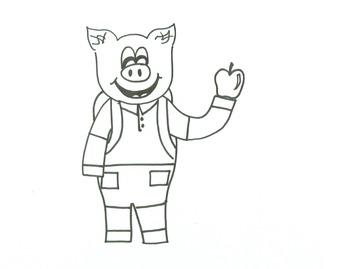 Back to School Pig Printable