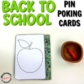 Back to School Pin Poking Printables