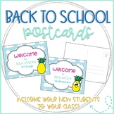 Pineapple Editable Back to School Postcards to Students