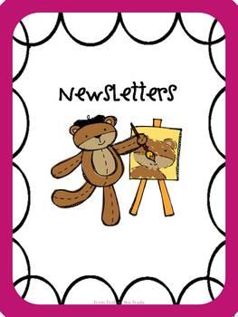 Back to School Pink Bear Binders and Folders for Teachers!
