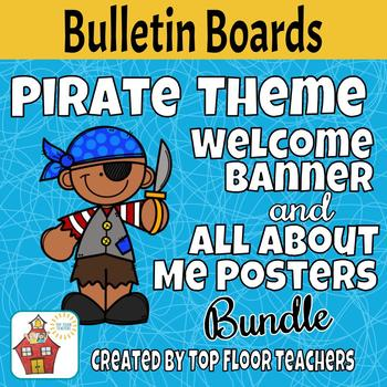 Back to School Pirate Bulletin Board - Bundle