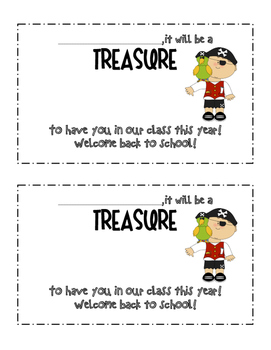 Back to School Pirate Handout